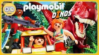 PLAYMOBIL Dino - Save dinosaurs on Roca Island * Race runner game for kids