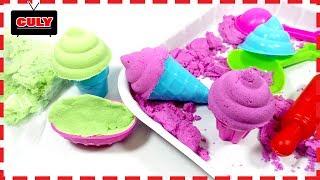 Đồ chơi làm kem bằng cát động lực nhiều màu make ice cream kinetic sand toy for kids