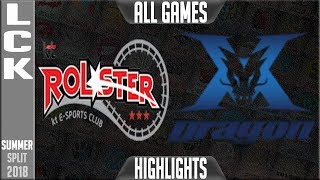 KT vs KZ Highlights ALL GAMES | LCK Summer 2018 Week 2 Day 1 | KT Rolster vs King-Zone DragonX