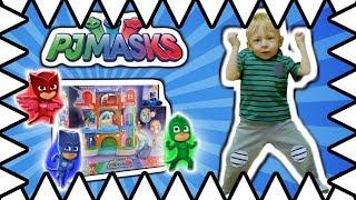 PJ Masks Headquarters Review! PJ Max HQ Headquarters w/ Catboy And Owlette!