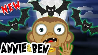 New | Three Little SPOOKY BATS and the MONSTER MONKEY | Halloween Songs for Kids by Annie and Ben