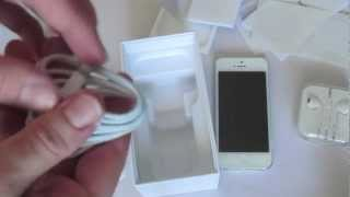  iPhone 5 white unboxing