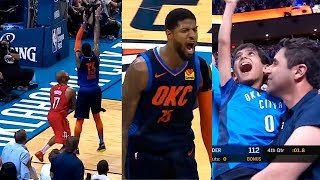 Paul George shocks entire crowd & goes crazy after hits game-winner against the Rockets