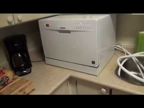 Countertop Dishwasher Hook Up : Counter Dishwasher Product Review - YouTube