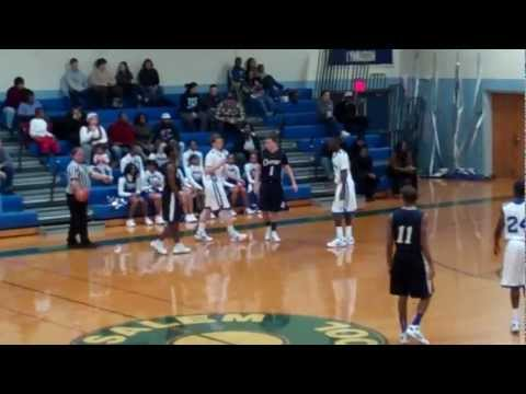Clayton High School vs Salem High School Boy's Basketball Part1 (1/12/12)