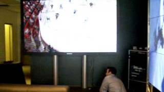 PS3 on 103 inch Plasma, Infinite Plasma wall