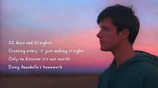 Alec Benjamin - Annabelle's Homework [Official Lyric Video]