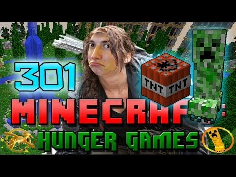 Minecraft: Hunger Games w/Mitch! Game 301 - CREEPER, TNT, AND STUCK IN A HOLE!