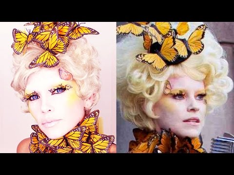 Effie Trinket Costume Makeup