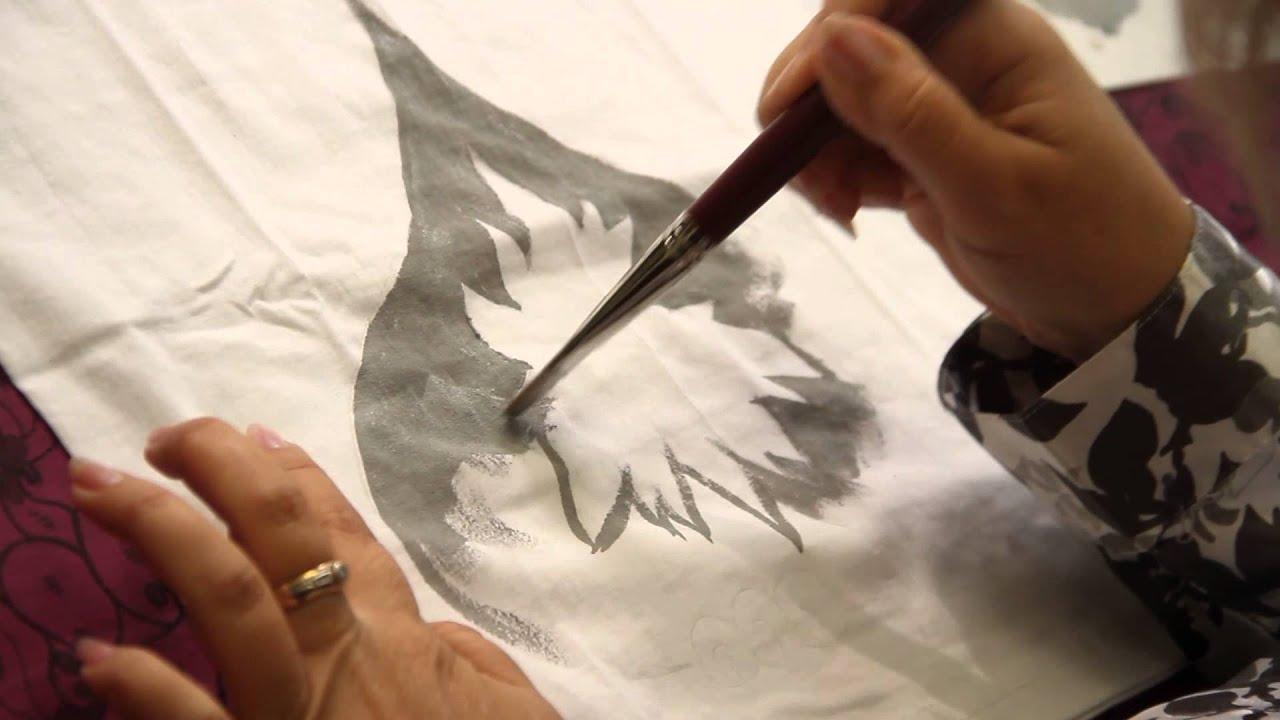 Рисунки на футболках в домашних условиях 449