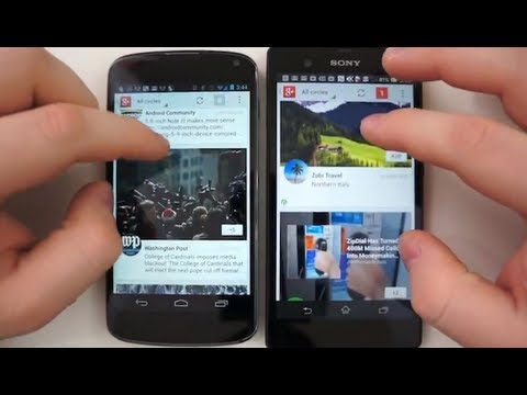 Sony Xperia Z vs Nexus 4