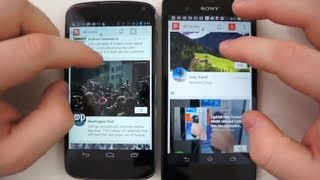 Sony Xperia Z vs Nexus 4