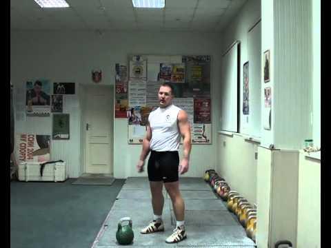 Уроки гиревого спорта. Рывок. Морозов Игорь - 1 часть.