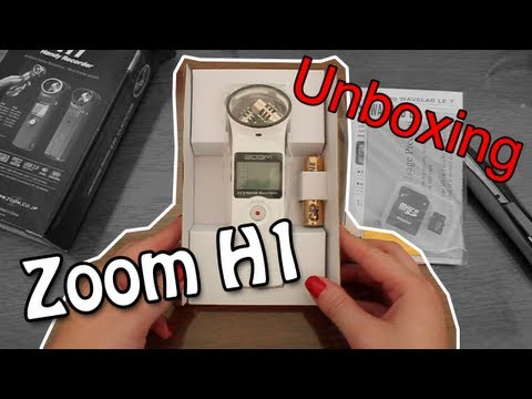 Unboxing Microfone / Gravador de Voz Zoom H1 [pt-br]