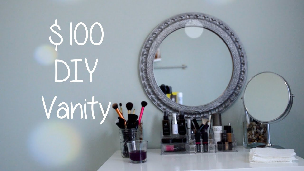 $100 DIY Vanity Desk - YouTube