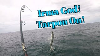 Hurricane Irma Fishing Part 1 - Irma God Tarpon on Paddleboard!