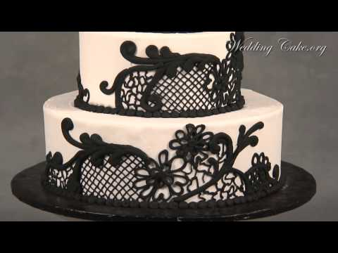 Black Wedding Cakes | Round Wedding Cakes | Black Primrose