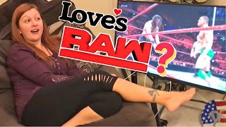 HEEL WIFE LOVES WWE RAW! HER REACTIONS ARE MUST SEE!