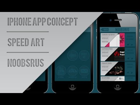 iPhone App Concept :: Speed Art :: NoobsRus