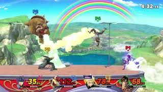 SSBU: Stock/Rainbow Cruise - Valen₃ (Bowser) v Axel (Marth) v joelitic (Cloud) v Leeroy^-^ (Richter)