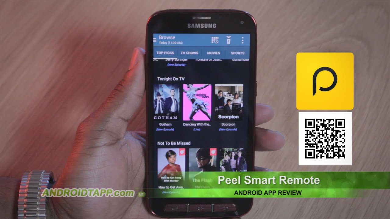 Peel Smart Remote Android App Review Youtube