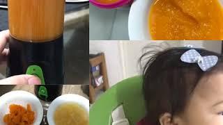 Baby's food combination   carrots+squash+apple purée