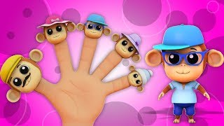 Monkey Finger Family | rima keluarga jari | sajak anak-anak | Finger Family Song | Farmees Indonesia