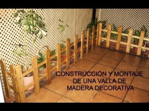 Paso a paso construcci n y montaje de una valla de madera - Parasol de jardin ...