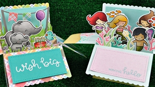 Intro To Scalloped Box Card Pop Up  2 Cards From Start To Finish