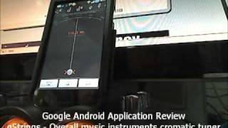 Google Android app review - gStrings - The overall music instruments cromatic tuner