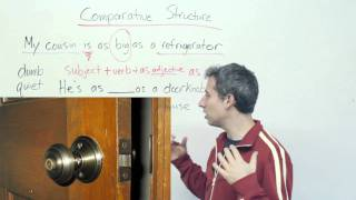 English Grammar - How to compare:
