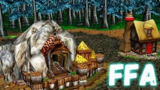 Нереальный FFA замес в патче 1.29 Warcraft 3