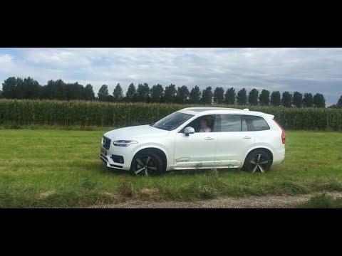 Белый благородный внедорожник-гибрид! Volvo XC90 Hybrid/ Вольво ХС90  2017