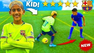 8 YEAR OLD KID MESSI vs OVERPOWERED PRO FOOTBALLER CHALLENGE