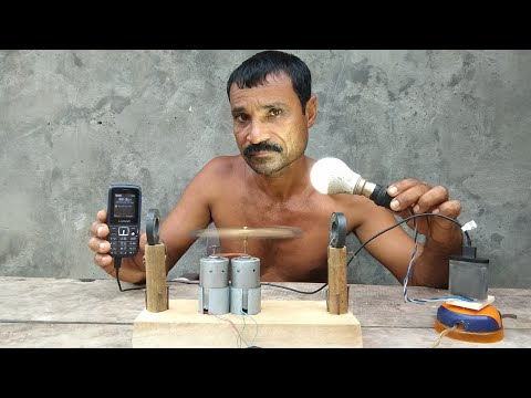 How to make free energy || light bulbs || generoater with magnets & Dc motor|| by tlahan thumbnail