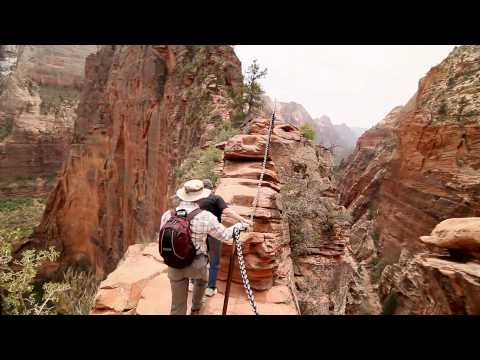 EXTREME HIKING Angels Landing with the 7d