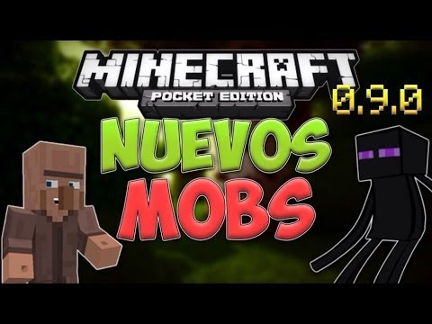 Nuevos Mobs en Minecraft PE 0.9.0 - Aldeanos, Enderman, Slimes, Lobos y Más