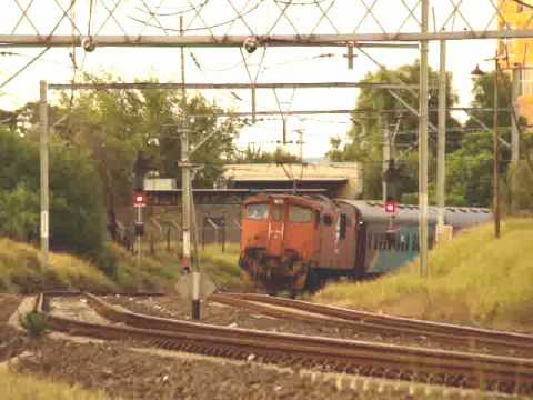 Transnet Freight Rail 6E1 on the Shosholoza Meyl at Riverton and Kimberley, South Africa