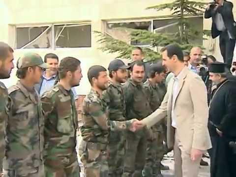 زيارة الرئيس الأسد إلى معلولا في عيد الفصح 2014