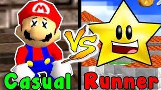 Casual VS Speedrun - Snowman's Land (Super Mario 64)