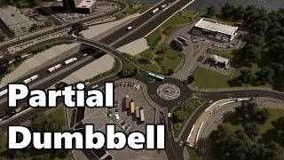 Cities Skylines: Partial Dumbbell Interchange