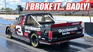 We Took Our NASCAR Drag Racing... It Broke, Parts Were Flying, It Was Epic!