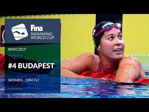 Women's 50m Fly   Day 2 Budapest #SWC19   FINA Swimming World Cup 2019