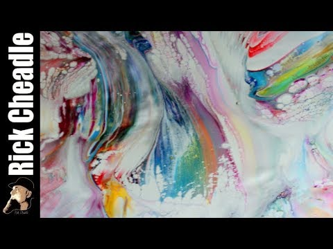 Multi Swipes LUKAS CRYL Liquid Acrylics 91% Isopropyl Alcohol on Easy Flow Paint Pouring Panel