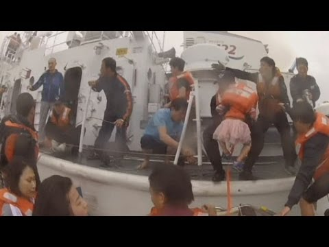 South Korea Ferry: Six-year-old Girl Rescued video