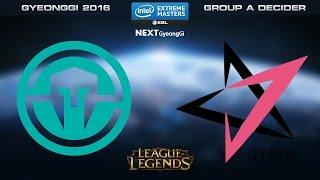LoL - Immortals vs. J Team [Game 1] - Group A Decider - IEM Gyeonggi 2016
