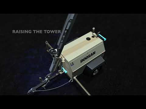 Doosan Portable Power - Light Tower Setup and Operation