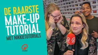 Raarste make-up tutorial met NikkieTutorials // Mattie, Fien & Igmar