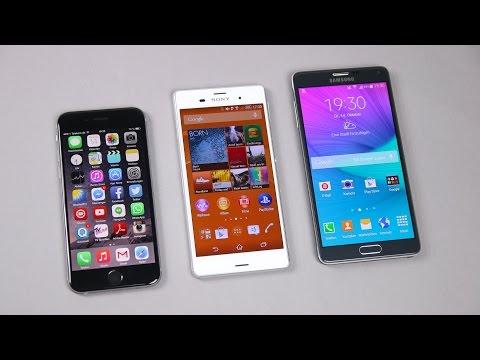 Samsung Galaxy Note 4 vs. Sony Xperia Z3 vs. Apple iPhone 6: Benchmark | SwagTab