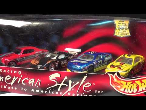 Hot Wheels Racing American Style 4-car Box Set From 1999